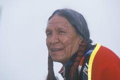 Cherokee elder för indian arkivbild