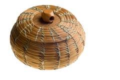 Cherokee handwoven basket Royalty Free Stock Photo