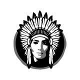 Cherokee, kobiety wojna, Apache, indianin Royalty Ilustracja