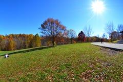 Cherokee Park tijdens de Daling Stock Foto