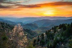 Большой национальный парк Cherokee Северная Каролина Scen закоптелых гор Стоковые Фото