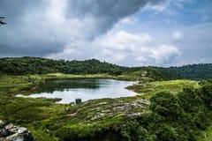 Cherrapunji shillong noordoostelijk India stock afbeeldingen