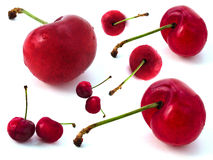Cherries. Multiple cherries Royalty Free Stock Images