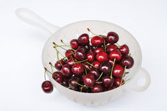 Cherries. Cherry fruits in a Colander Royalty Free Stock Photo