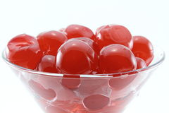 Cherries. Cocktail glass with sweet cherries and sweet liqueur Royalty Free Stock Image