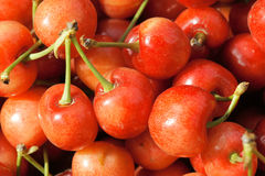 Cherries. The close-up of red cherries Royalty Free Stock Image
