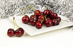 Red Christmas Cherries Royalty Free Stock Image
