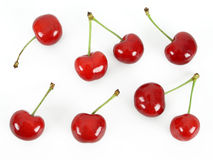 Cherries. On white Stock Photography