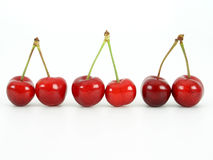 Cherries. On white Royalty Free Stock Photography