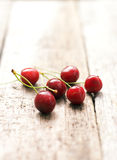 Cherries. On a wooden  table Stock Photo