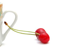 Cherries. Pic of cherries on a white Royalty Free Stock Photo