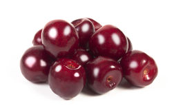 Cherries. On a white background Royalty Free Stock Image