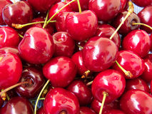 Cherries. Sweet, wet cherries Stock Image