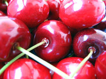 Cherries. Sweet, wet red cherries background Stock Photography