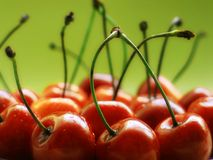 Cherries. Macro Stock Photos