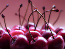 Cherries. Macro Stock Images