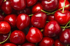 Cherries. Detail shot from red cherries Royalty Free Stock Images