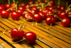 Cherries. Still life with cherries in warm light Stock Images