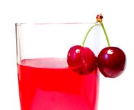 Cherries. Glass with cherries Royalty Free Stock Photography