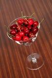 Cherries. A glass of cherries Stock Photo