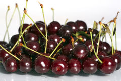 Cherries. Sour cherries, food and nutrition at spring Royalty Free Stock Images