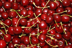 Cherries. Box full of ripe, organic cherries Stock Photos