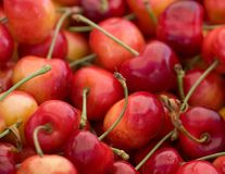 Cherries Abstract Stock Images