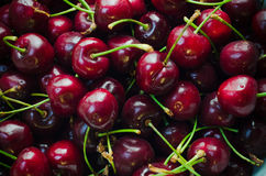 Cherries. Background of delicious red cherries Royalty Free Stock Photography