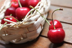 Cherries in a bag Royalty Free Stock Photography