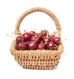 Cherries in basket Stock Photography