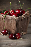 Cherries in basket Royalty Free Stock Images