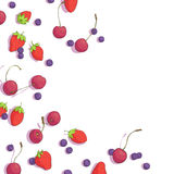 Cherries, blueberries and strawberries Stock Photos