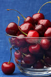 Cherries in bowl Royalty Free Stock Photo