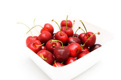 Cherries in bowl Royalty Free Stock Image