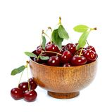 Cherries in bowl Stock Image