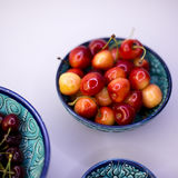 Cherries in a bowl design Royalty Free Stock Images