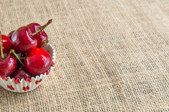 Cherries in a bowl Royalty Free Stock Image