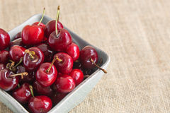 Cherries in a bowl Stock Image