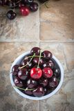 Cherries in a bowl Royalty Free Stock Photography