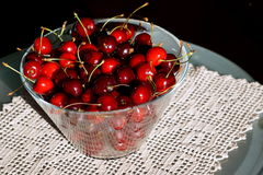 Cherries in a bowl Royalty Free Stock Images
