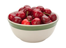 Cherries in a Bowl Isolated Royalty Free Stock Photo