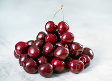 Cherries in bowl and near Royalty Free Stock Image