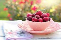 Cherries, Bowl, Pink, Fruit Royalty Free Stock Photos