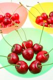 Cherries in bowls Royalty Free Stock Photography