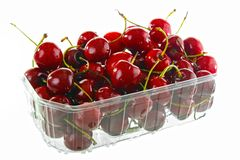 Cherries in box Stock Images