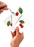 Cherries card Royalty Free Stock Photo
