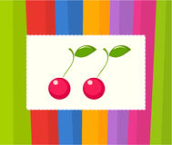Cherries card Royalty Free Stock Photos
