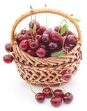 Cherries in a cart. Stock Photos