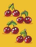 Cherries cartoon Stock Image
