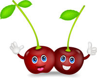 Cherries cartoon couple Stock Image
